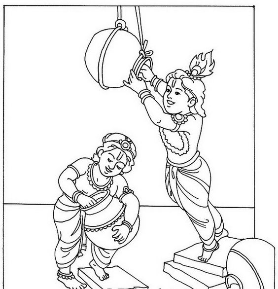 Shri Krishna Janmashtami Coloring Printable Pages For Kids Super Coloring Pages Harry Potter Art Drawings Coloring Pages