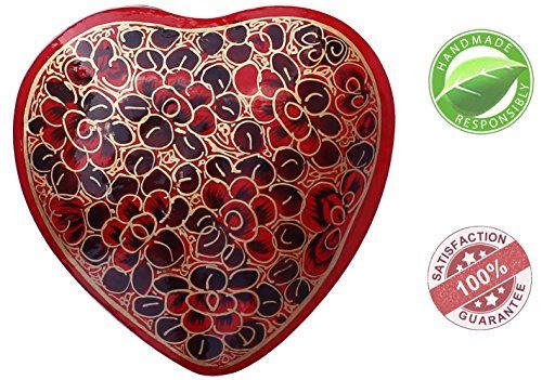 *Grand Soldes D'été* SouvNear Rouge Cœur Boîte de L'amour – Boîte de Rangement Bijou de Papier Mâché – Souvenir Mignon pour les Filles,…