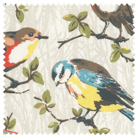 For a standing lamp shade Garden Birds Cotton Duck | Home Furnishing | CathKidston
