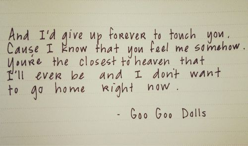 Image Result For All That You Are Goo Dolls Lyrics