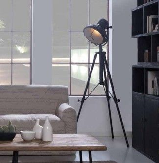 Lamparas de pie de estilo industrial modelo detroit - Bauhaus iluminacion interior ...