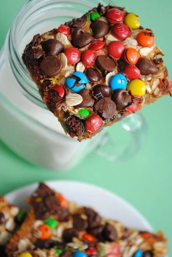 Monster Magic Cookie Bars. YUM!