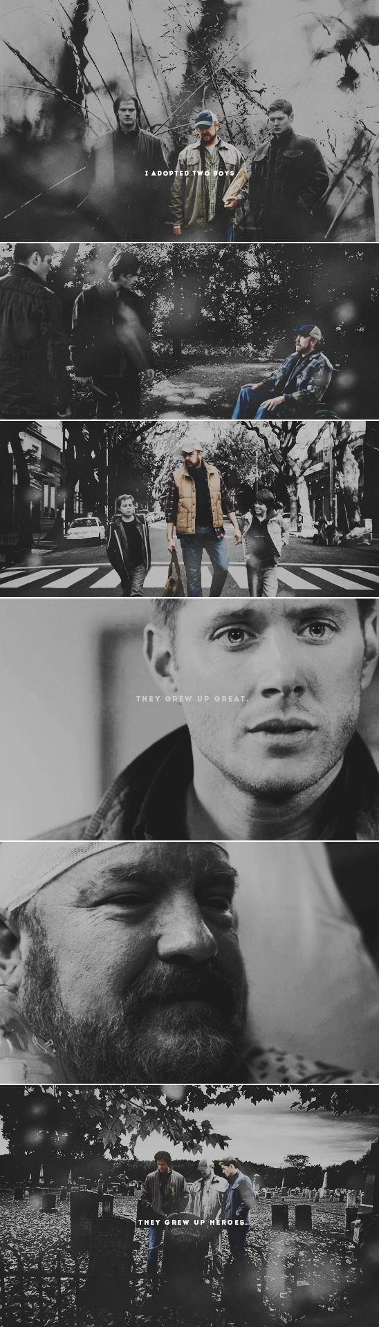 """""""So you must be the guy pretending to be their father."""" """"Somebody ought to."""" #spn"""