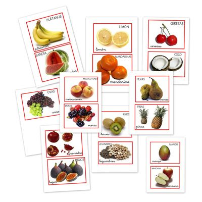 Pictogramas de frutas variadas
