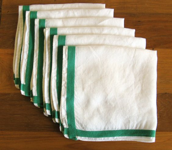 Kelly Green Linen Napkins-Set of 6 by MarketHome on Etsy, $28.00
