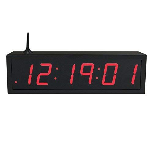 Time Machines Precision Digital Wifi Clock 2 5 X 6 Red Digits Black Case Review Digital Clock Black Case