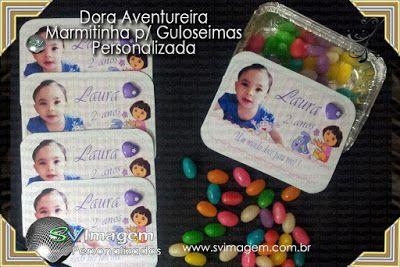 SV Imagem Personalizados - Silmara Vintem: Marmitinha personalizada para guloseimas no tema Dora Aventureira
