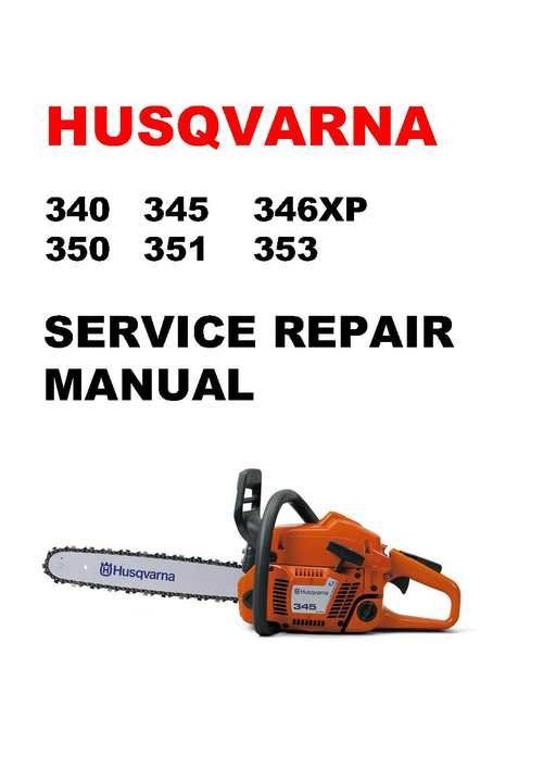 Husqvarna 340 345 346xp 350 351 353 Chainsaw Service Manual Husqvarna Carburetor Adjustment Manual