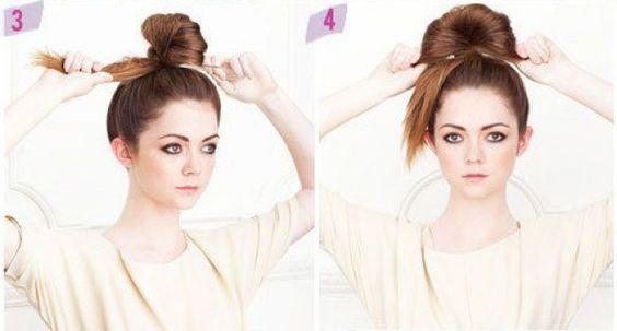 #Tutoriales de peinado inspirados en las Princesas #Disney ¿Cómo hacerse el #moño alto de Mulán? #DIY #hairstyle #peinados