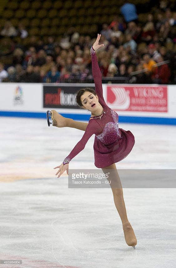 Evgenia Medvedeva of Russia skates in the womens short program during Day One of the Progressive Skate America ISU Grand Prix of Figure Skating on October 23, 2015 in Milwaukee, Wisconsin.