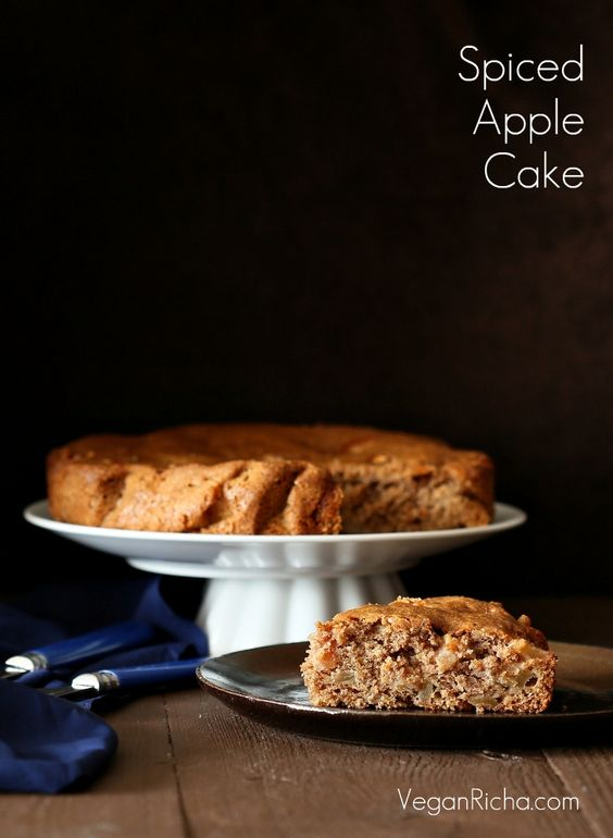 Spiced Apple Cake. Vegan Recipe  by Vegan Richa