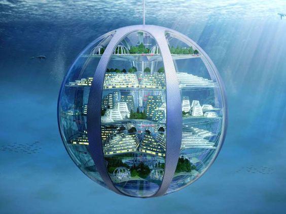 100年後を予想 海中都市 月面コロニー ドローン住居など斬新な未来