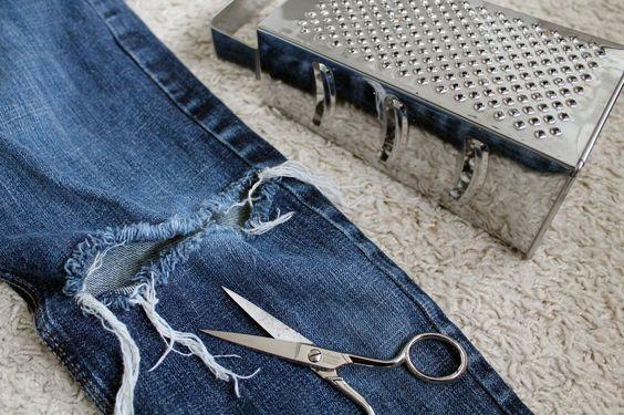 destroyed jeans diy do it yourself pinterest selber machen und jeans. Black Bedroom Furniture Sets. Home Design Ideas