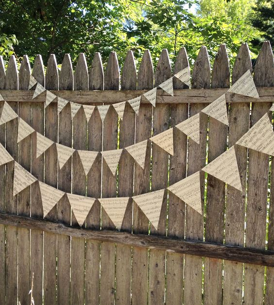 Vintage Sheet Music Bunting Banner - Set of 2 | Collections Wedding | Montclair Made | Scoutmob Shoppe | Product Detail:
