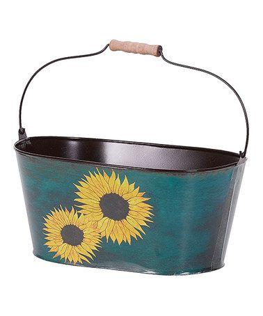 Another great find on #zulily! Blue Oval Sunflower Planter #zulilyfinds