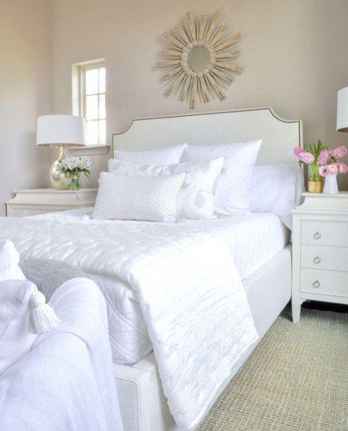 Elegant White Themed Bedroom Ideas07   home decore in 2019 ...