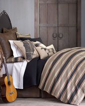 casual bedding with a slightly rustic feel #horses #apartment
