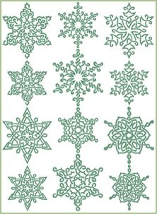 AnnaBoveEmbroidery.com Free Machine Embroidery Designs: Snowflakes In Celtic Style: