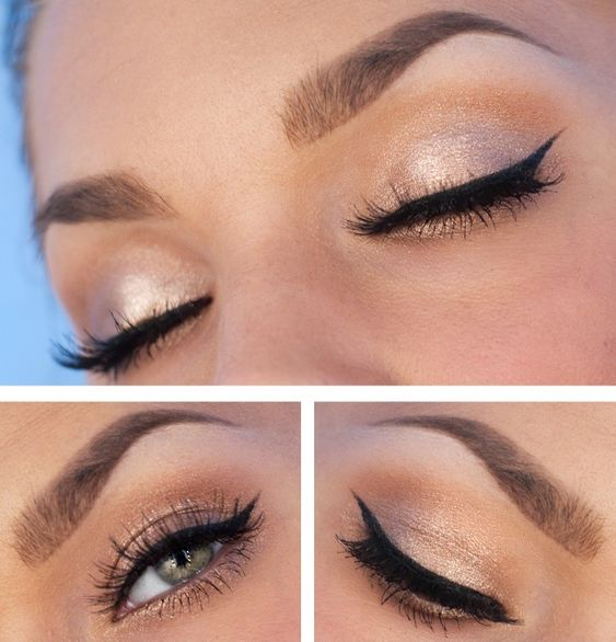 Simple And Elegant Bridal Makeup : Wings, Winged eyeliner and Homecoming on Pinterest