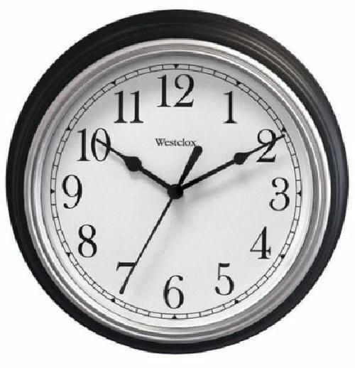 Westclox Black 9 Diameter Decorative Wall Clock Second Hand Battery Operated Westclox Clock Wall Decor Grey Wall Clocks Round Wall Clocks