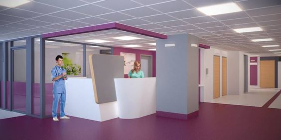 Seinäjoki Central Hospital - interior visualisation.