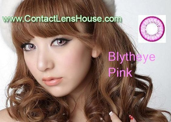 Blytheye Pink color circle lens. Korean cosmetic lenses.  We Ship Worldwide | Shop @ ContactLensHouse.com