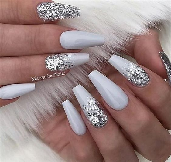 Elegant Nail Designs To Inspire Your Next Mani Page 4 Of 20 Fashion Ombre Nails Glitter Silver Nails Nail Art Hacks