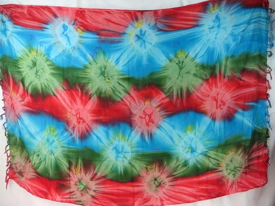 star burst tie dye red green turquoise sarong discount fashion apparel $5.25 - http://www.wholesalesarong.com/blog/star-burst-tie-dye-red-green-turquoise-sarong-discount-fashion-apparel-5-25/