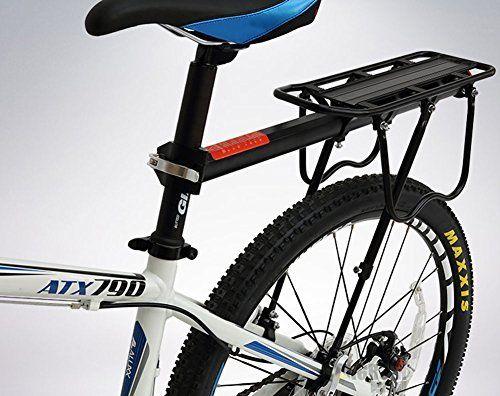 Amazon Com Rear Bike Rack Dirza Bicycle Cargo Rack Quick Release Adjustable Alloy Bicycle Carrier 115 Lb Capacity Easy To Rear Bike Rack Cargo Rack Bike Rack