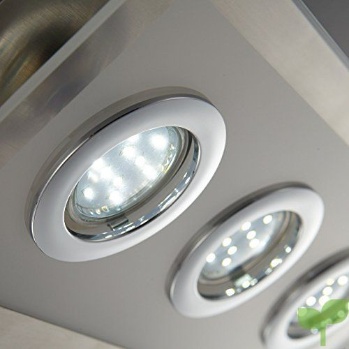 6 I Incluye focos I LED 6 cuadrado techo I Marco Lámpara de ChxtrdsQ
