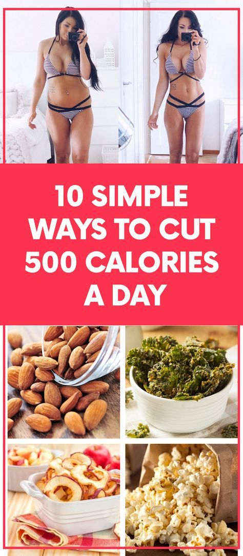 Here are ten simple ways to sneak a large number of calories out of your diet without feeling like you're sacrificing too much #diet #snacks