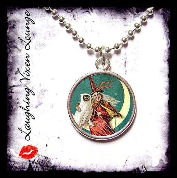 Vintage Witch Necklace SR D  Witch Jewelry  by LaughingVixenLounge, $12.00