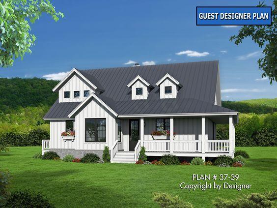 House Plan 37 39 Garrell Associates Inc Country Style House Plans House Plans Farmhouse Farmhouse House