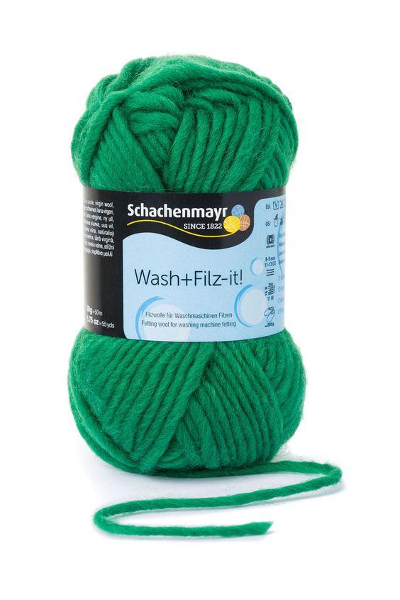 Wash+Filz-it! Filzwolle Schachenmayr 00016 grass green