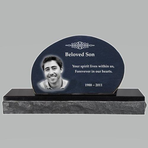 Photo Laser Engraved Granite Headstone Oblong By Taualways On Etsy