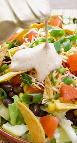 Southwest Salad with Taco Ranch Dressing Recipe