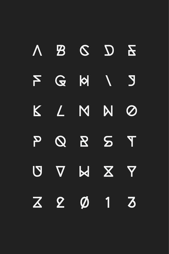 Typeface design inspired by the language of geometry and chemistry