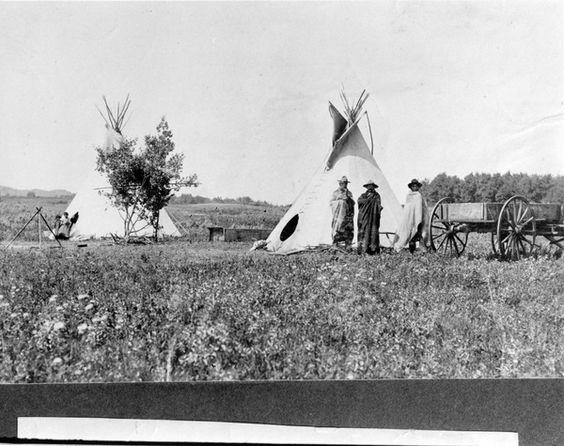 Cree Indians Tipis | saskhistoryonline.ca