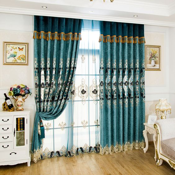 Fortune Tree Jacquard Sheer Curtain Tulle Valance Bedroom Dining Lace 4 Colors