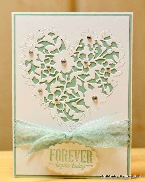 JanB Handmade Cards Atelier: Bloomin' Heart Wedding Card - SU: