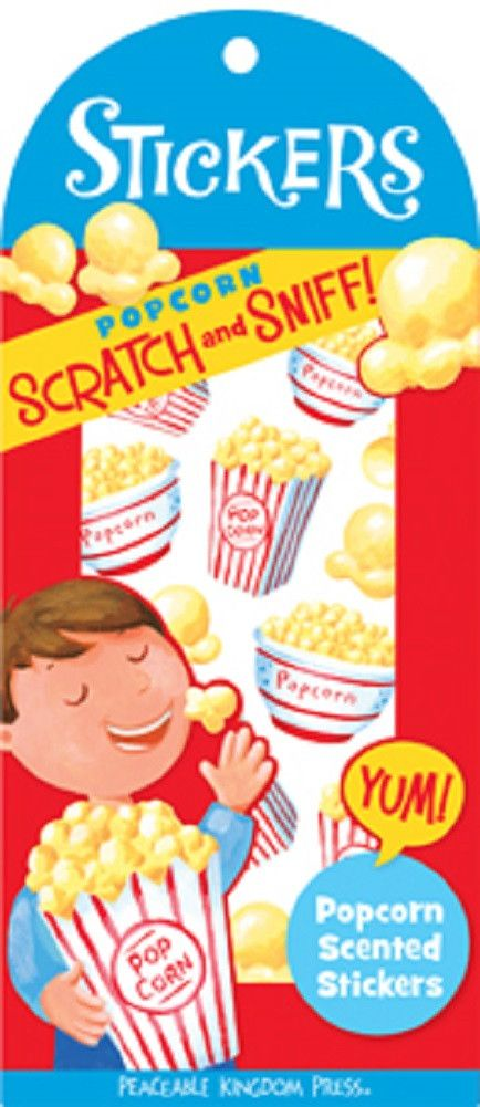 Scratch & Sniff Popcorn Scented Stickers