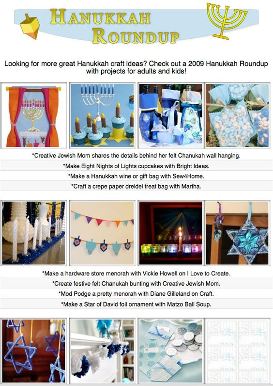 16 hanukkah themed craft tutorials printables how tos for Hanukkah crafts for adults