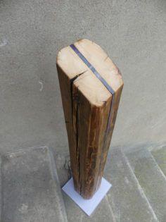 Reclaimed Wood Led Floor Lamp   Wood floor lamp, Led floor