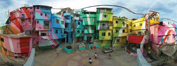 Proyecto de pintura en favelas de Río de Janeiro (Brasil). Este proyecto de obra pública comenzó en 2010 como una colaboración entre los artistas holandeses Jeroen Koolhaas y Dre Urhahn del despacho Haas y Hahn y un equipo local de la favela de Santa Marta en Río de Janeiro. Desde entonces, Haas y Hahn han llevado esta iniciativa por todo el mundo, transformando una zona en ruinas en el norte de Filadelfia o trabajando con las comunidades de Curazao para dar viveza a los espacios públicos…