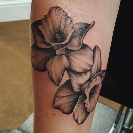 Daffodil tattoo----March birth flower