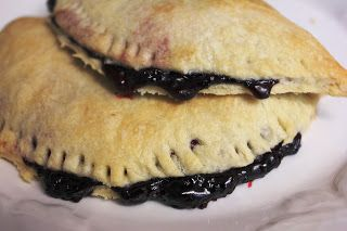 Marion berry hand pies. Just the sauce is so yummy on vanilla ice cream.