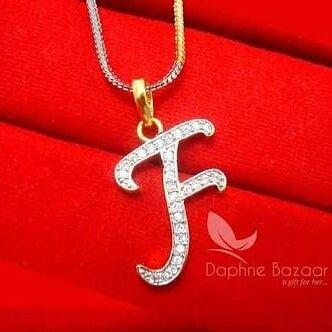 Hayat Zulfiqar F Alphabet Stylish Alphabets Monogram Jewelry