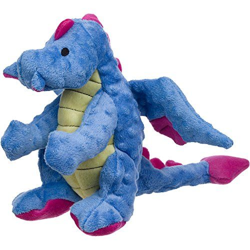 Godog Dragons With Chew Guard Technology Durable Plush Squeaker