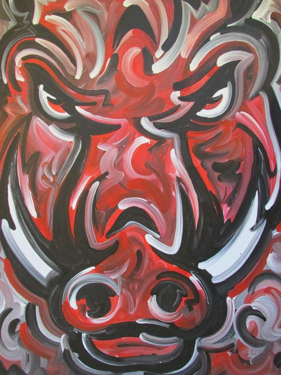Officialy Licensed University of Arkansas Painting by stormstriker