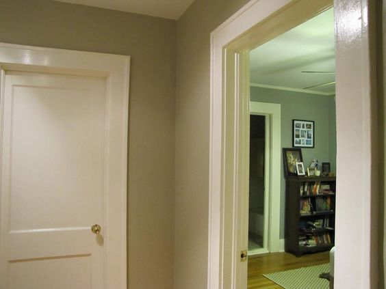 Valspar colony sand greige in my hallway turned out for Perfect grey beige paint